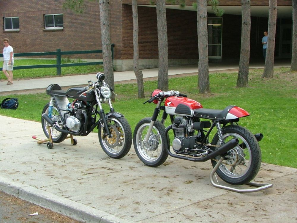 A stellar CB350 Cafe Build-off by a Couple of high school technology departments! (1/2)