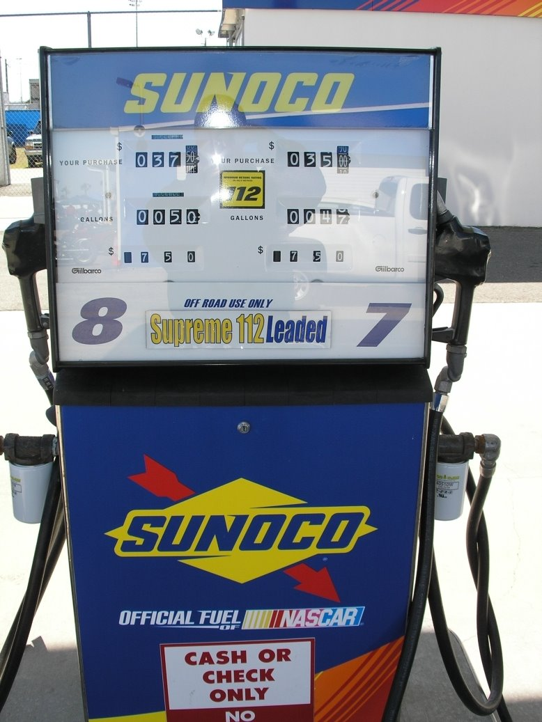 $7 50 per gallon and worth every penny  112 Octane Race gas