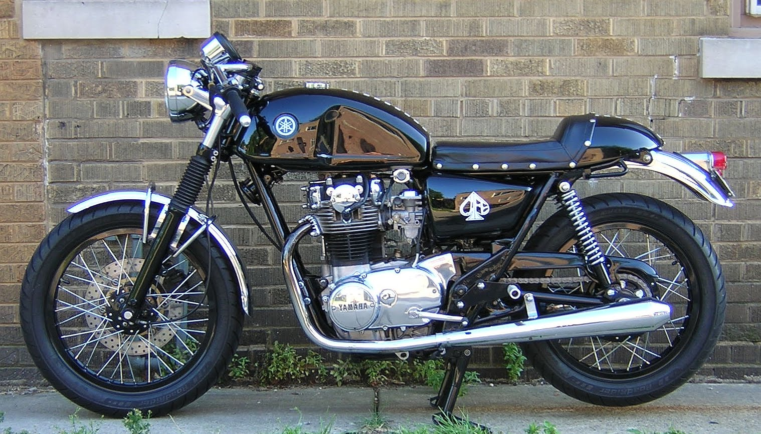black beauty xs650 cafe racer motorcycle photo of the day. Black Bedroom Furniture Sets. Home Design Ideas