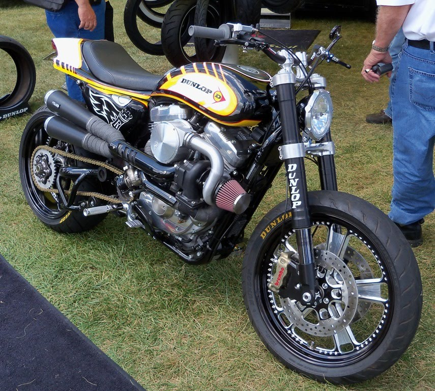 Turbo Harley Drag Race: Outrageous Turbocharged Harley Street Tracker / Street