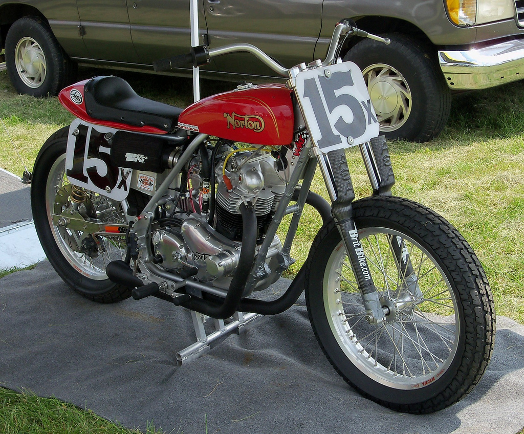 Flattracker motorcycle photo of the day for The norton