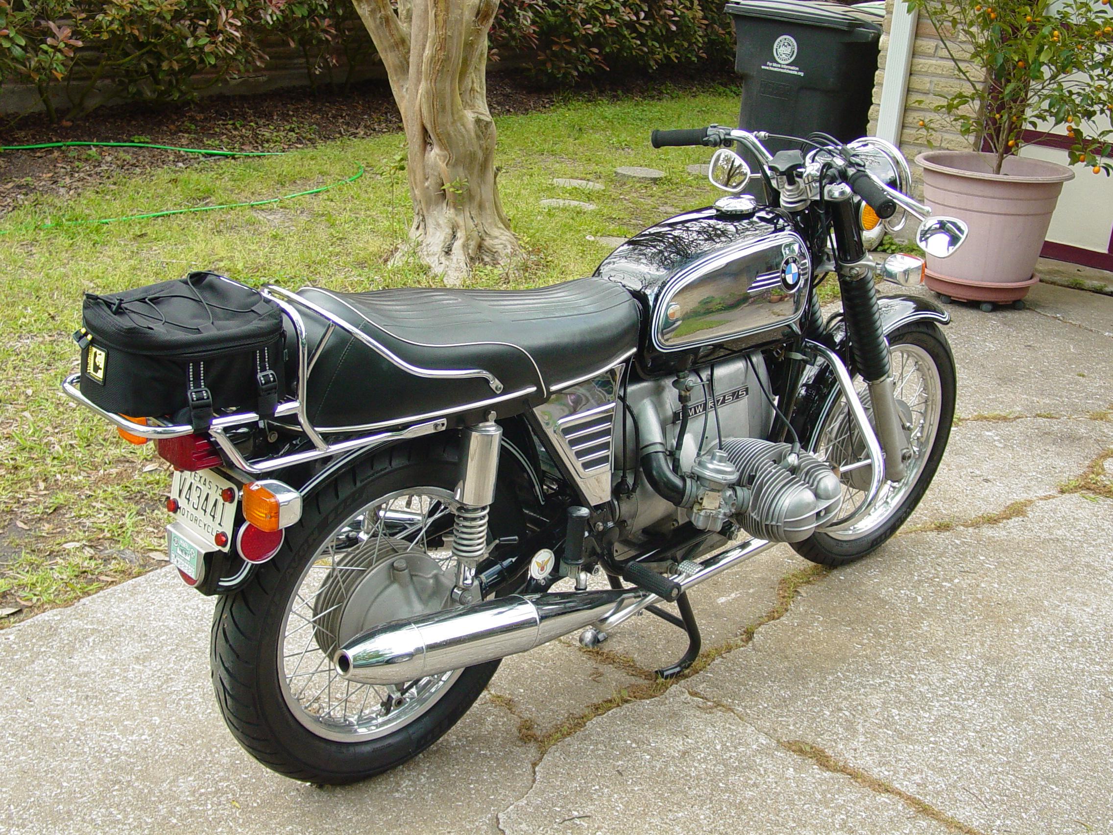 reader ride sweet 1973 bmw r75 5 motorcycle photo of. Black Bedroom Furniture Sets. Home Design Ideas