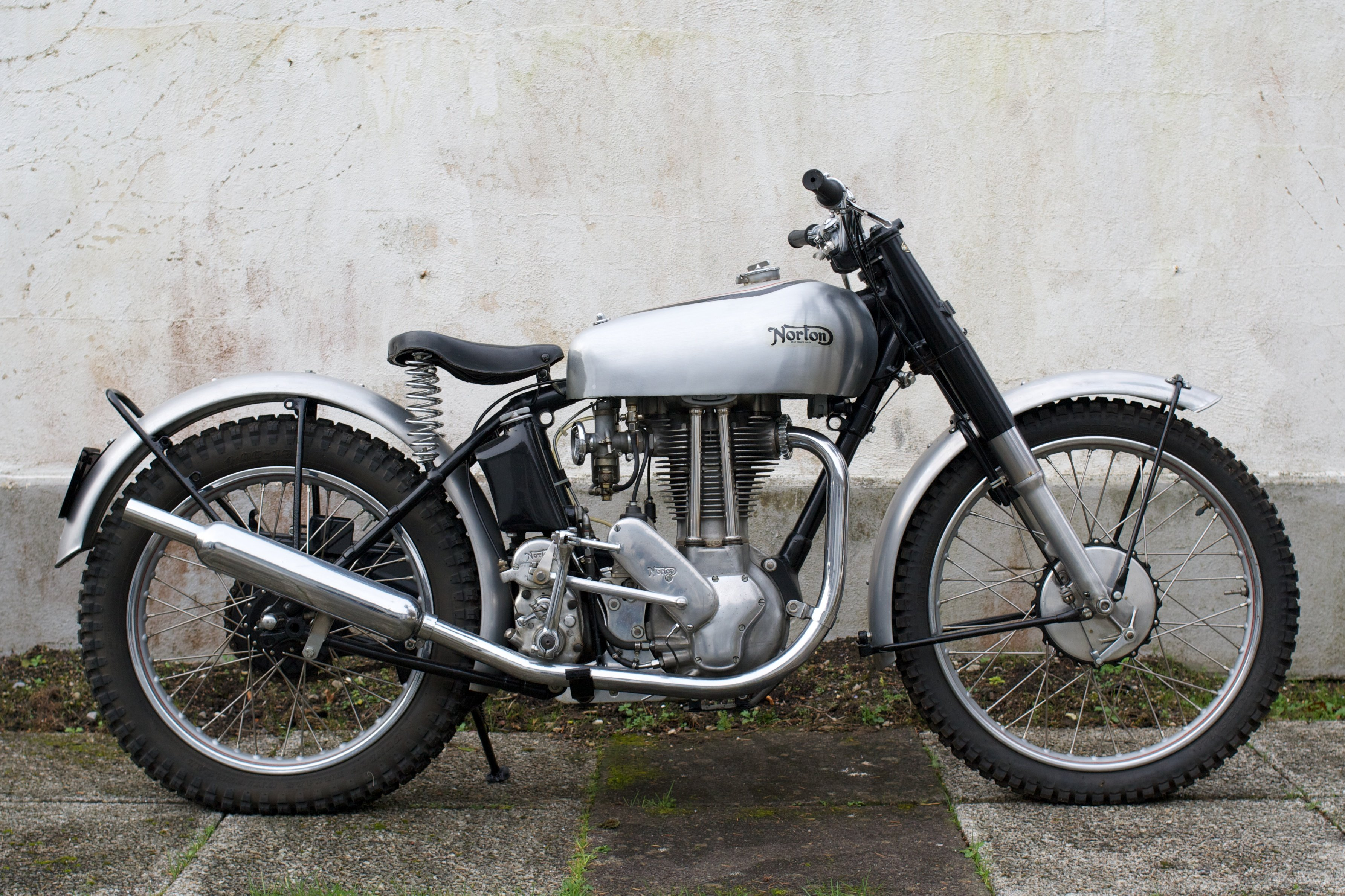 A beautiful pre production1948 500t trials norton from for The norton
