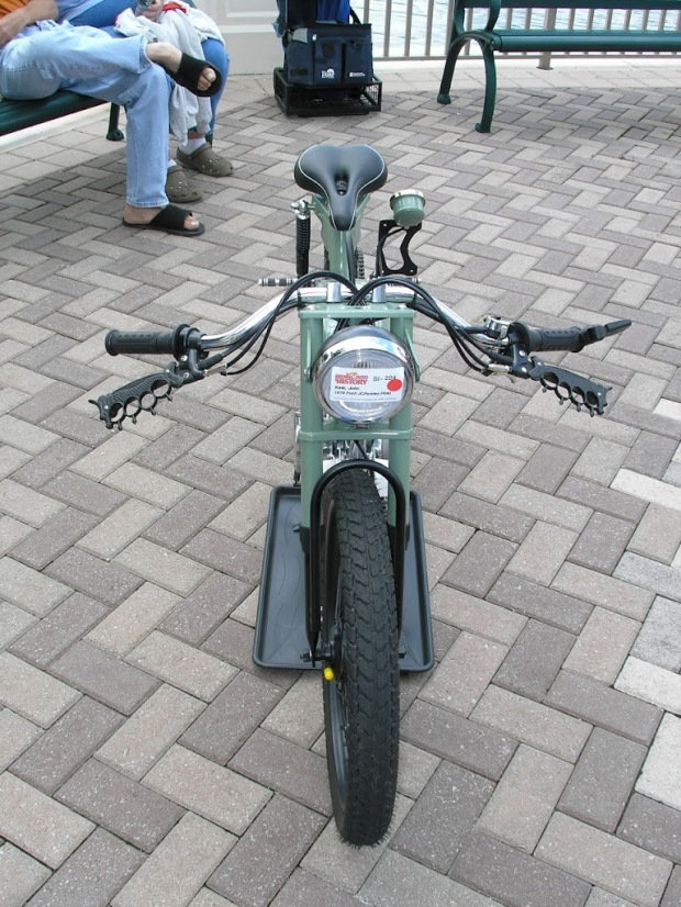A truly stunning Cafe'd 1972 Puch JC Penny Flyer moped