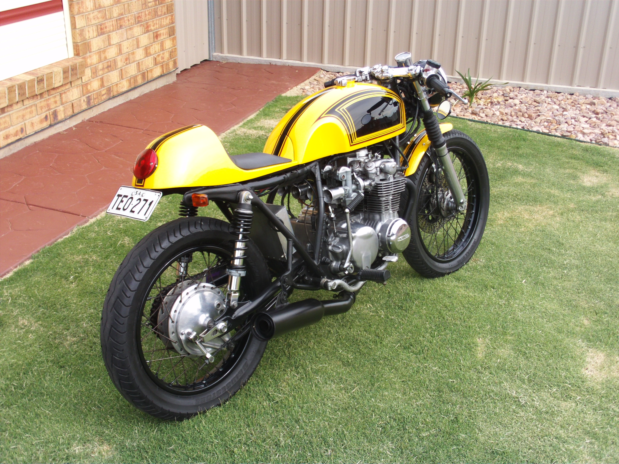 At The Monday Morning Cafe A Nice 1977 Cb550k Motorcycle Photo Of